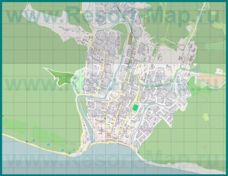 Подробная карта курорта Архипо-Осиповка