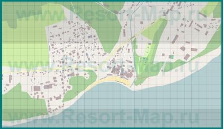 Подробная карта курорта Бетта