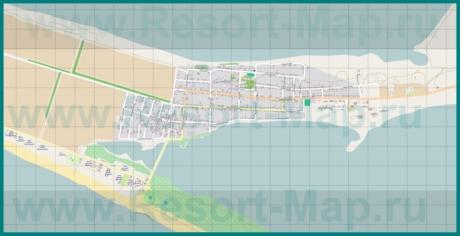 Подробная карта станицы Благовещенская