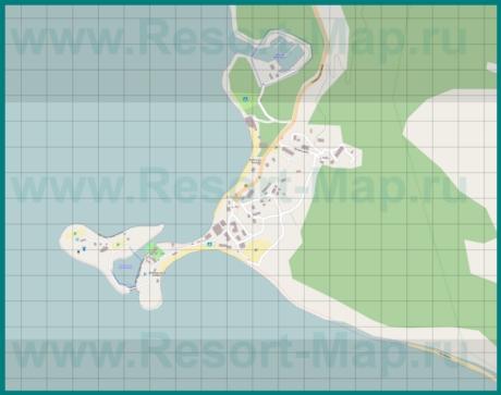 Подробная карта курорта Большой Утриш