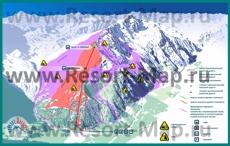 Карта трасс горнолыжного курорта Чегет