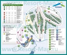 Карта горнолыжного курорта Чекерил с трассами