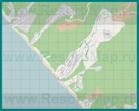 Подробная карта Дедеркоя с улицами и домами