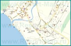 Подробная карта Дивноморского с улицами и номерами домов
