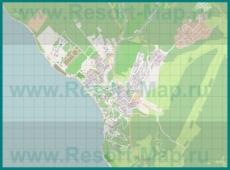 Подробная карта курорта Дивноморское