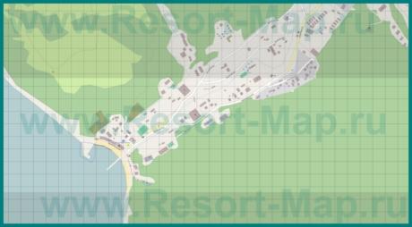 Подробная карта курорта Джанхот
