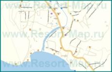 Подробная карта Джубга с улицами и номерами домов
