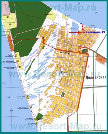Подробная карта станицы Должанская