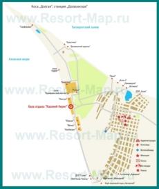 Туристическая карта Должанской с гостиницами и пансионатами