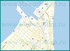 Подробная карта Ейска с улицами и номерами домов
