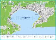 Карта Геленджика с гостиницами, ресторанами и пляжами