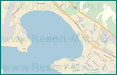 Подробная карта Геленджика с улицами и номерами домов