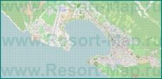 Подробная карта побережья Геленджика и окрестностей