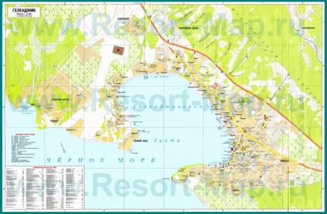 Туристическая карта Геленджика