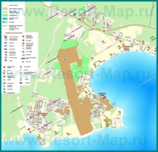 Туристическая карта Голубой Бухты