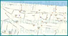 Подробная карта Голубицкой с улицами и номерами домов