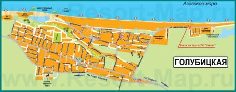 Туристическая карта Голубицкой