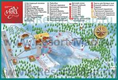 Подробная карта горнолыжного курорта �гора с трассами