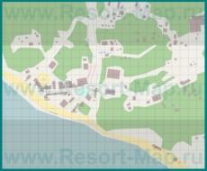 Подробная туристическая карта курорта Инал