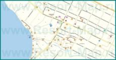 Подробная карта Кабардинки с улицами и номерами домов