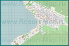 Подробная карта поселка Кабардинка