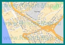 Карта Адлера с улицами и номерами домов