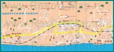 Карта побережья Адлера с достопримечательностями