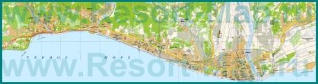 Подробная карта города Адлер