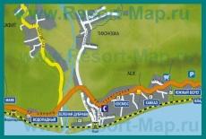Карта курорта Аше с гостиницами