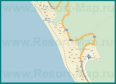 Подробная карта Чемитоквадже с улицами и номерами домов