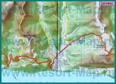 Карта курорта Дагомыс с гостиницами