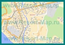 Подробная карта Дагомыса с улицами и номерами домов