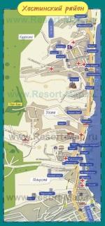 Карта отелей Хосты