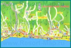 Подробная карта города Хоста