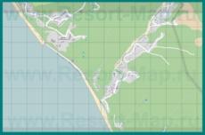 Подробная карта курорта Каткова Щель