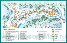 Карта отелей Красной Поляны