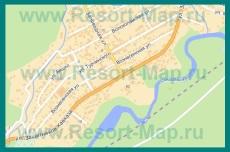 Подробная карта Красной Поляны с улицами и номерами домов