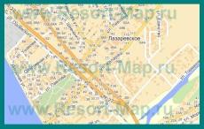 Карта Лазаревского с улицами и домами