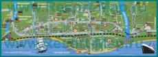 Подробная карта посёлка Лазаревское