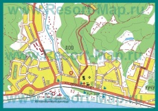 Карта поселка Лоо