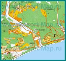 Карта поселка Мацеста
