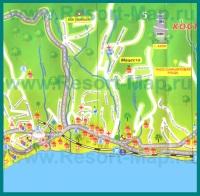 Туристическая карта Мацесты с отелями