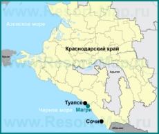 Магри на карте Краснодарского края