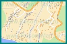 Подробная карта Макопсе с улицами и номерами домов