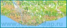 Подробная карта Сочи