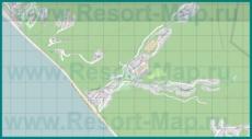 Подробная карта курорта Солоники