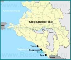 Солоники на карте Краснодарского края
