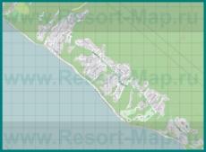 Подробная карта курорта Совет-Квадже