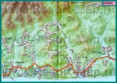Карта поселка Вардане с гостиницами