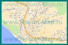 Подробная карта Вардане с улицами и номерами домов